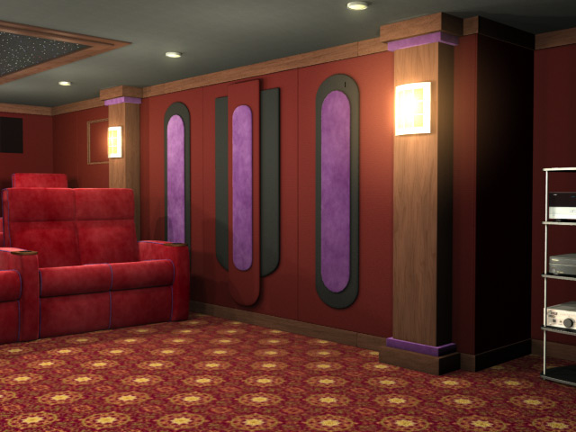 Emperor home theater wall accents - Home theater interiors ...