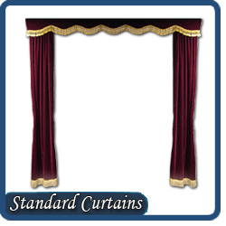 Custom home theater curtains for Motorized curtains home theater