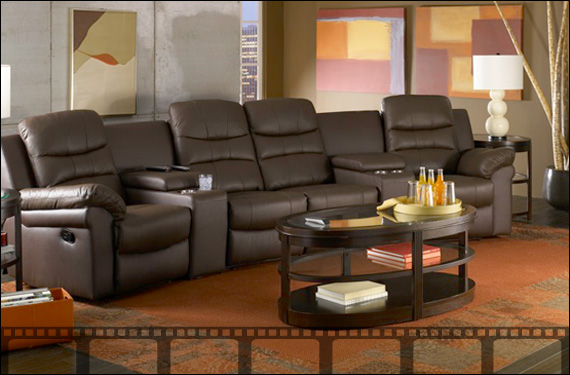 home theater seating home theater furniture movie 19668 | setacraft genesis media room furniture