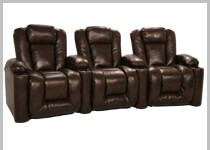 Klaussner Augustus - Row of 3 Clearance Home Theater Seats